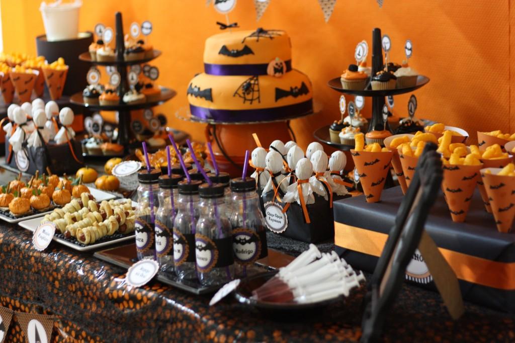 Una fiesta de halloween en gran canaria la cocottela cocotte - Decoracion mesa halloween ...